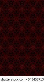 black and red color floral pattern. vector illustration. For design, wallpaper, card, banner, flyer. Ethnic ornament