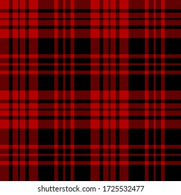Black and Red colors tartan plaid Scottish seamless pattern.Texture from plaid, tablecloths, clothes, shirts, dresses, paper, bedding, blankets and other textile products.