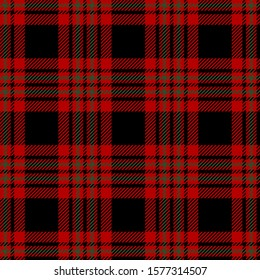 Black, Red and Green plaid Scottish seamless pattern.Christmas and New year concept.Vector illustration.Texture from tartan, plaid, tablecloths, clothes, shirts, dresses, paper, bedding,blanket.