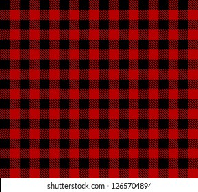 Black and red Lumberjack plaid seamless pattern.Texture from rhombus/squares for-plaid,tablecloths, clothes, shirts, dresses, paper, bedding, blankets and other textile products.vector background.