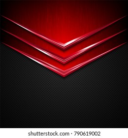 Black and red metal  texture background. Vector illustration