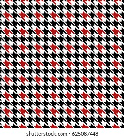 Black And Red Seamless Houndstooth Pattern Design