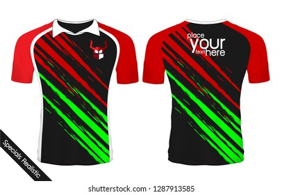 2c52080ee Black and Red sport wear protection equipment vector illustration.layout  football sport t-shirt
