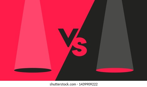 Black and Red Versus Screen Design Modern Concept