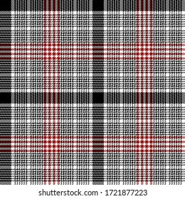 Black, Red and White colors modern tartan plaid Scottish seamless pattern.Texture from plaid, tablecloths, clothes, shirts, dresses, jacket, skirt, paper, blankets and other textile products.