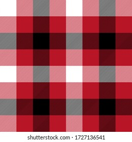 Black, Red and White colors tartan plaid Scottish seamless pattern.Texture from plaid, tablecloths, clothes, shirts, dresses, paper, bedding, blankets and other textile products.