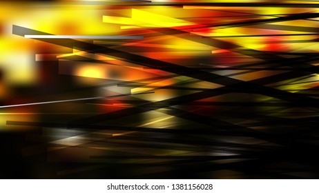 Black Red and Yellow Asymmetric Irregular Lines Background