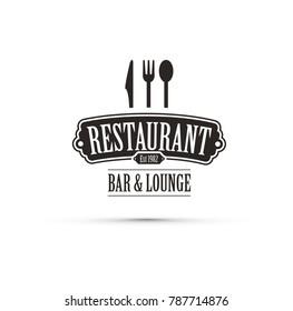 black restaurant logo