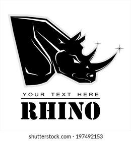 Black Rhino. Elegant Rhinoceros