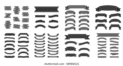 new vector set tricolor flat long stock vector royalty free