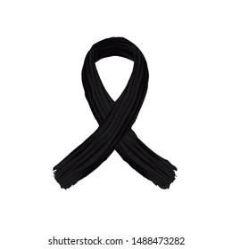 Black ribbon melanoma cancer.Black ribbon melanoma cancer vector icon.Black ribbon melanoma cancer background.Black ribbon melanoma cancer awareness