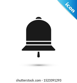 Black Ringing bell icon isolated on white background. Alarm symbol, service bell, handbell sign, notification symbol.  Vector Illustration
