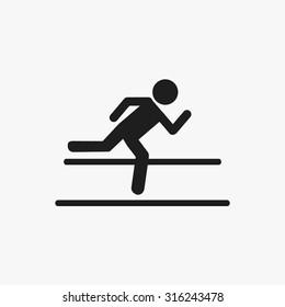 Black running icons set. Vector Illustration eps10.