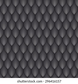 the black scales of a snake, fish, dragon, or other animal, seamless texture