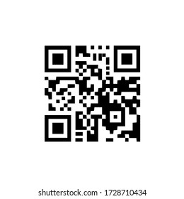 Black scan code icon for mobile. Qr code for checkout of product. Vector illustration. Eps 10.