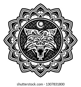 Wolf+tattoo Images, Stock Photos & Vectors | Shutterstock