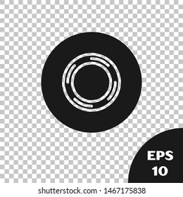 Black Scotch icon isolated on transparent background. Roll of adhesive tape for work and repair. Sticky packing tape. Office tool and stuff.  Vector Illustration