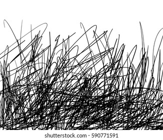 Black scribble drawing background with blank space on top, Vector