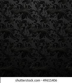 black seamless wallpaper pattern vector 260nw 49611406
