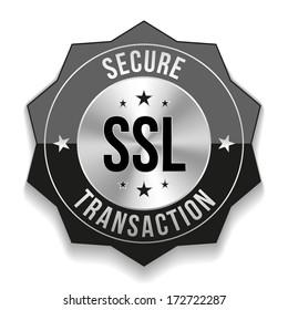 Black secure transaction badge