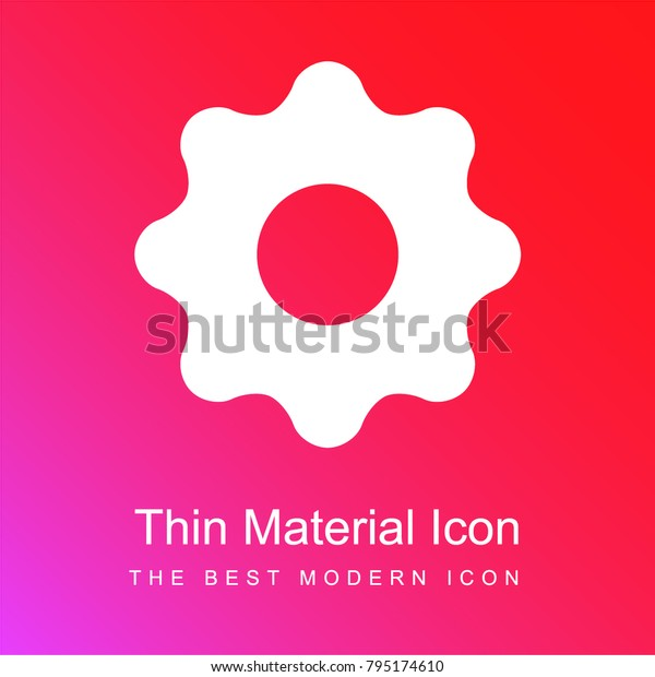 Black Settings Button Red Pink Gradient Stock Vector Royalty Free 795174610
