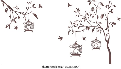 Tree Wall Painting Images Stock Photos Vectors Shutterstock