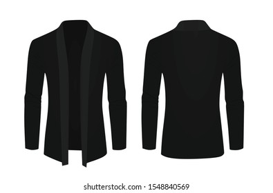 Black shawl sweater. vector illustration
