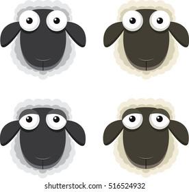 Black sheep head