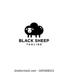 black sheep logo with cloud icon vector template in trendy modern minimal style