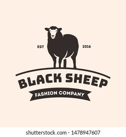 black sheep logo design template