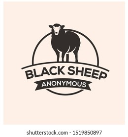 black sheep logo design vector
