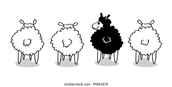 Black Sheep - Vector