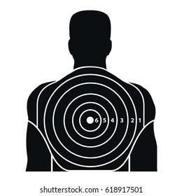 Black shooting target for guns, Target for shooting-galler.