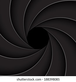 Black shutter aperture,  vector illustration