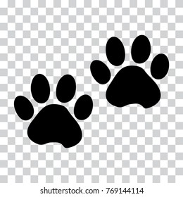 Transparent Background Paw Print Png – Cat and paws print illustration, american shorthair claw black and white illustration, cat paw prints transparent background png clipart.