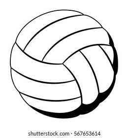 black silhouette color with volleyball ball