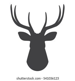 image relating to Deer Head Silhouette Printable titled Deer Mind Silhouette Shots, Inventory Visuals Vectors
