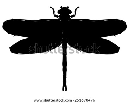black silhouette dragonfly stock vector royalty free 251678476