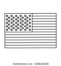 black silhouette of flag of the united states