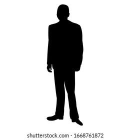 black silhouette man businessman, guy