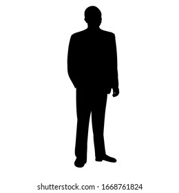 black silhouette man, guy stands alone