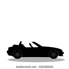 Vintage Open Top Sports Car Silhouette Images Stock Photos