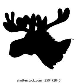 black silhouette of moose