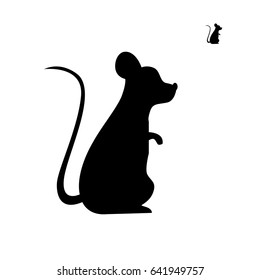 the black silhouette of the mouse