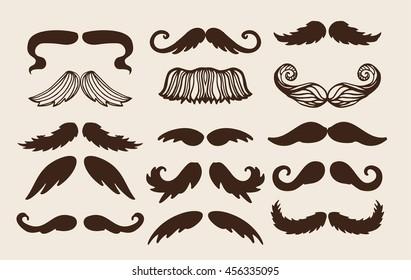 Black silhouette mustache