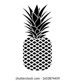 Black silhouette of a pineapple