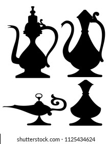 Aladdin Lamp Silhouette Images Stock Photos Vectors