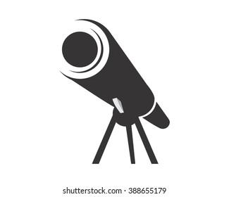 black silhouette telescope logo