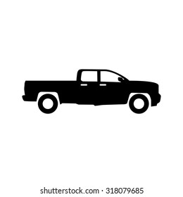 black silhouette truck