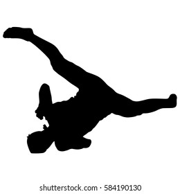 Leaping Dancer Silhouette Stock Vectors Images Vector Art Shutterstock